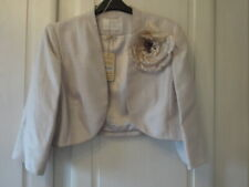 JACQUES VERT BOLERO WITH CORSAGE CHAMPAGNE  SIZE 16  NEW