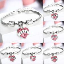 Lovely Mom Sister Daughter Aunt Niece Pink Heart Bracelet Gift For Her Women Men