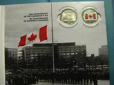 CANADA 50TH ANNIVERSARY OF CANADIAN FLAG...A PRISTINE ALBUM WITH COINS BY RCM