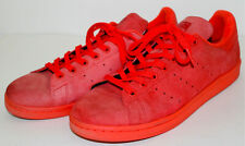 Adidas Stan Smith Red Suede Leather Shoes Sneakers Size Men's 10.5