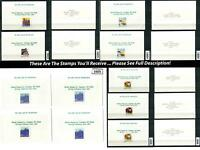 Dealer Dave Cinderella Stamps NICE LOT 1990 DEFINITIVES IN MYSTIC CARDS (1603-6)