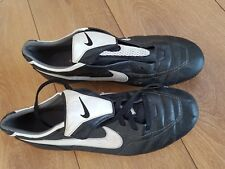 NIKE Tiempo Legend 1 Football Rugby Boots Cleats Studs UK 12 real leather SG