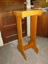 Vintage Church Pulpit / Lectern Solid White Oak Usable and could be refinished