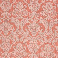Coral Orange Fabric Damask Brocade Pattern Upholstery Drapery Renaissance IL9