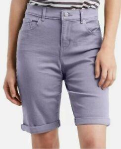 "Levis Womens Bermuda Shorts Size 00 W24 x 10"" Mid Rise Lavender Purple H1353"