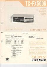 Sony Service Manual la raccolta tc-fx500r/fx510r - b2053
