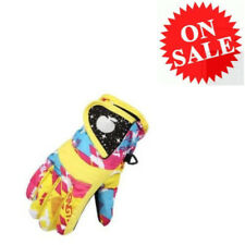 Oakley Ski Gloves Winter Warm Waterproof Yellow Snow For Boys Girls Children