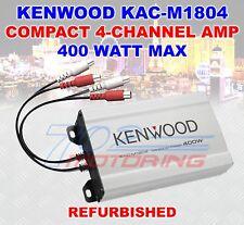 KENWOOD KAC-M1804 COMPACT 4-CHANNEL AMPLIFIER 400 WATT MAX (FACTORY REFURBISHED)