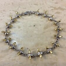 Stunning Sterling Silver Hearts and Angel Wings Bracelet.