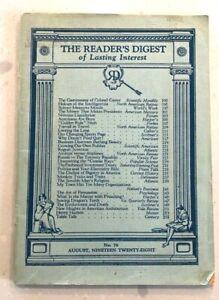 READERS DIGEST VINTAGE No76, AUGUST 1928