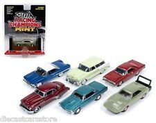 MINT RELEASE 1 SET A SET OF 6 CARS 1/64 DIECAST BY RACING CHAMPIONS RC001 A