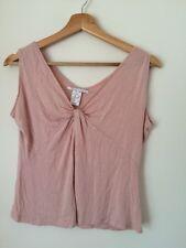 Cote Femme Rose Taille 10 Perles Sans Manches Top < T4642