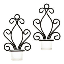 6Pcs Cast Iron Tealight Candle Holder Wall Mounted Antique Sconce Decor