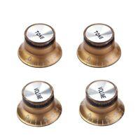 Set Gold Top Hat Knob for Gibson for Les Paul Gold Foil Button G8Q5