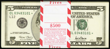 2001 STAR $5 Five Dollar Bills Federal Reserve Notes Fr. 1988-L* ~ Pack of 100