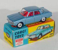 Corgi 252 Rover 2000. Metallic Steel Blue. Boxed/Original 1960's