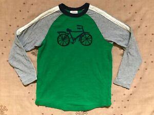 Hanna Andersson Green Bicycle Raglan Baseball Shirt, Size 140