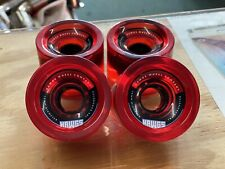 Hawgs Clear Red 70's 70mm 78A Durometer Longboard Wheels Set of 4