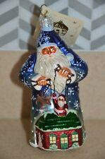 Rare Patricia Breen Blue Marionette Puppet Santa Snowflake Christmas Ornament