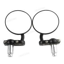 2pcs Round Rearview Side Mirrors for 7/8 Inch Handle Bar End Motorcycle Bike