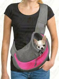YUDODO Pet Dog Sling Carrier Breathable Mesh Travel Safe Sling Bag Carrier large