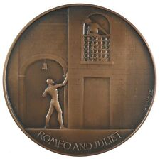 Great Britain SHAKESPEARE ROMEO AND JULIET bronze 56mm by Vincze