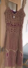 Betsey Johnson Dress, Lace Crochet over Hot Pink Size 6 Retail $325