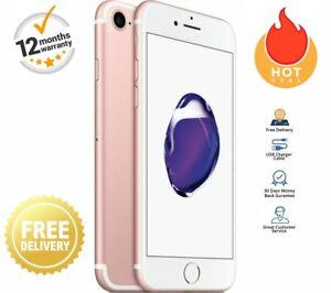 Apple iPhone 7 32GB 128GB 256GB Black Gold Rose Silver Unlocked Smartphone