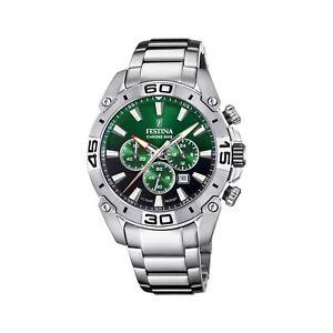 Festina F20543-3 Men's Chrono Bike Steel Bracelet Wristwatch