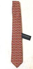 TailorByrd Mens Red Sportsballs Designer 100% Silk Designer Neck-Tie NWT