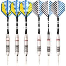 6pcs Steel Tip Darts 23g Professional Dart Set Aluminium Dart Flights