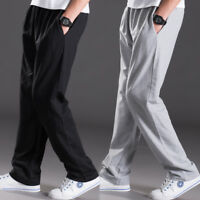 Men Sport Long Casual Pants Trousers Fitness Workout Joggers Gym Sweatpants New