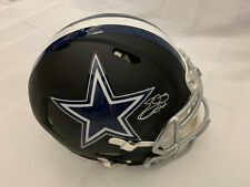 EMMITT SMITH SIGNED DALLAS COWBOY AUTHENTIC MATTE BLACK HELMET SILVER PAINT BAS