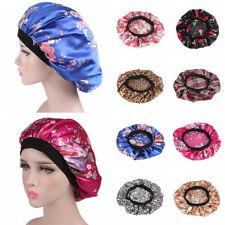 Summer Women Night Sleep Cap Hair Bonnet Hat Silk Head Cover Wide Elastic Turban