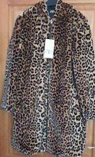 ZARA Leopard Faux Fur Hood Coat WITH HOOD BNWT SIZE M