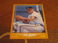Phil Niekro Autographed Baseball Card JSA Auction Cert