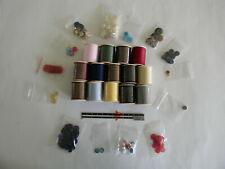 Sewing Notions - Vintage Thread Spools, Buttons, Dritz Hem Gauge