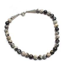 Halskette Perlenkette Kugelkette Collier aus Serpentin, D-12mm, NEU