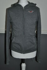Hollister Mens Lightweight Hoodie Grey Zip Up Sweatshirt Jumper S  / Small