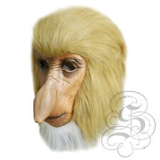 Latex Full Head Animal Proboscis Monkey Fancy Dress Up Carnival Prop Party Mask