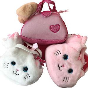 "Pet In A Bag Soft Plush Handbag 8"" Fluffy Carrier bag with plush Cat / Dog Girls"