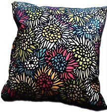 NEW - Colorful Soft Modern Floral Decorative Toss Accent Pillow - Made in USA