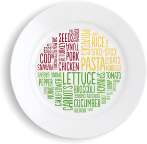Diet Portion Control Plate Slimming World Weight Loss Control Food Plate Dinner