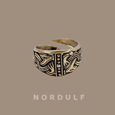 Vikings Borre Style Ring Viking Gripping Beasts Symbol - Shildmaden Size Aslaug