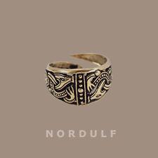 I VICHINGHI borre Stile Anello Viking avvincente BESTIE simbolo-shildmaden dimensioni aslaug