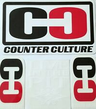 Counter Culture 3 Surf Sticker 90's Live In Pit Surfboard Surfer Vtg Beach Skate
