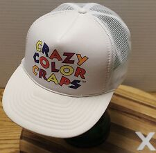 "VINTAGE ""CRAZY COLOR CRAPS"" TRUCKERS STYLE HAT SNAPBACK MESH BACK EXCELLENT COND"