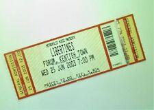 LIBERTINES TICKETS Unused Ticket Stub London 25/06/03 Pete Doherty Memorabilia