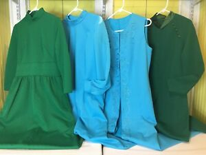 Vintage Women's Maxi Dress Clothing Lot of 3 1970s Sz S/L Polyester Knit Resell