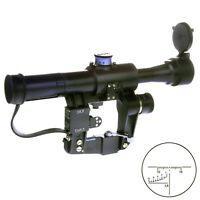 POSP 4x24 M. Optical Rifle Scope. BelOmo. Russian Side Mount. 1000m. Combloc.